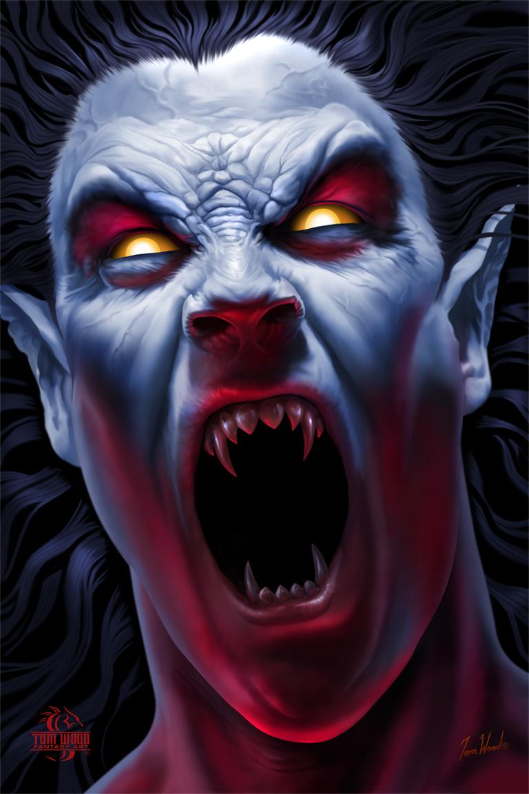 Drawn vampire art Graphic Wood White search Shirt