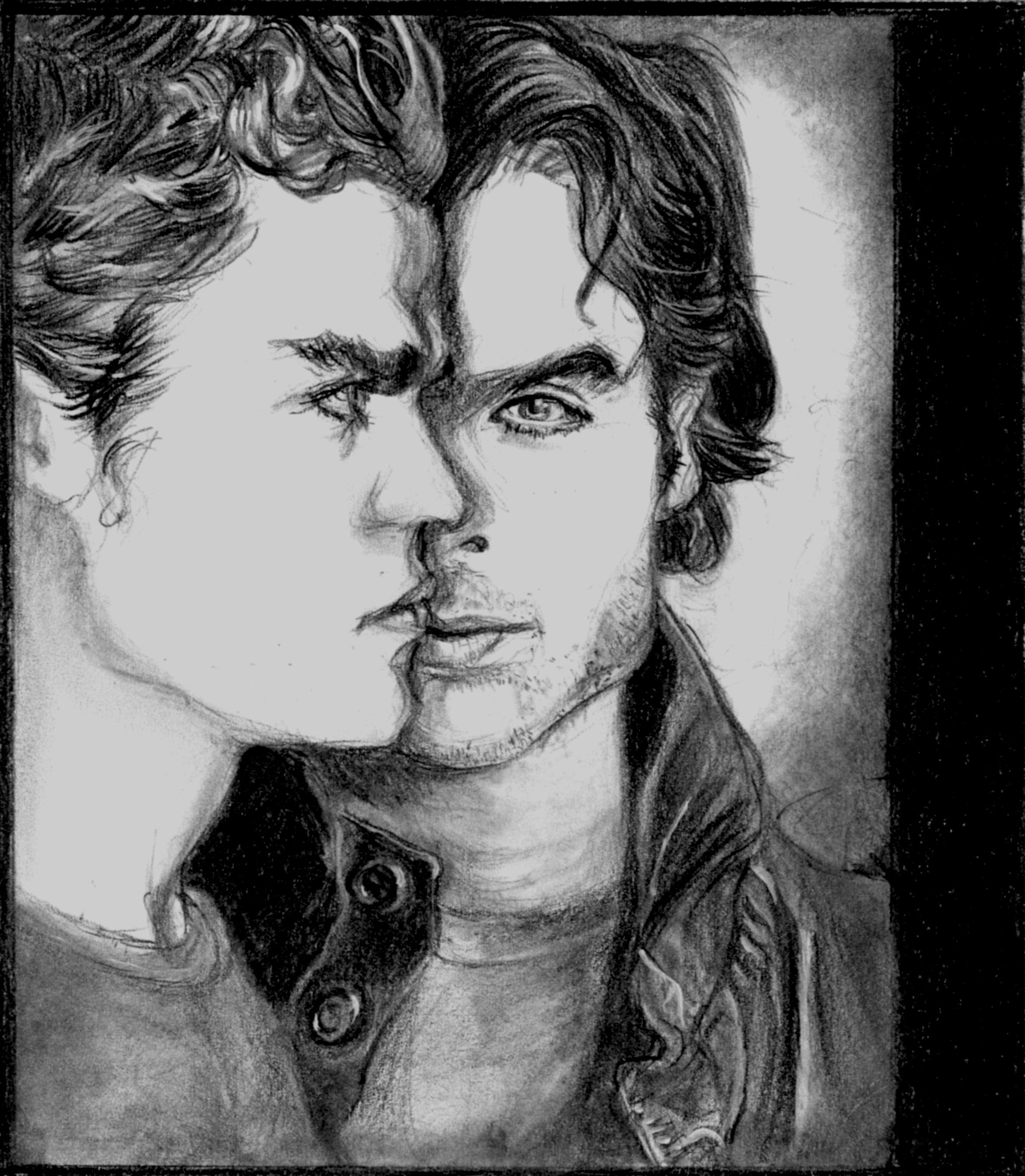 Drawn vampire art Art drawing TVD  Vampire