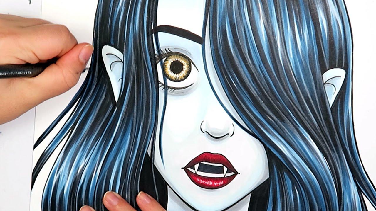 Drawn vampire art Marker Girl Illustration Vanessa VAMPIRE