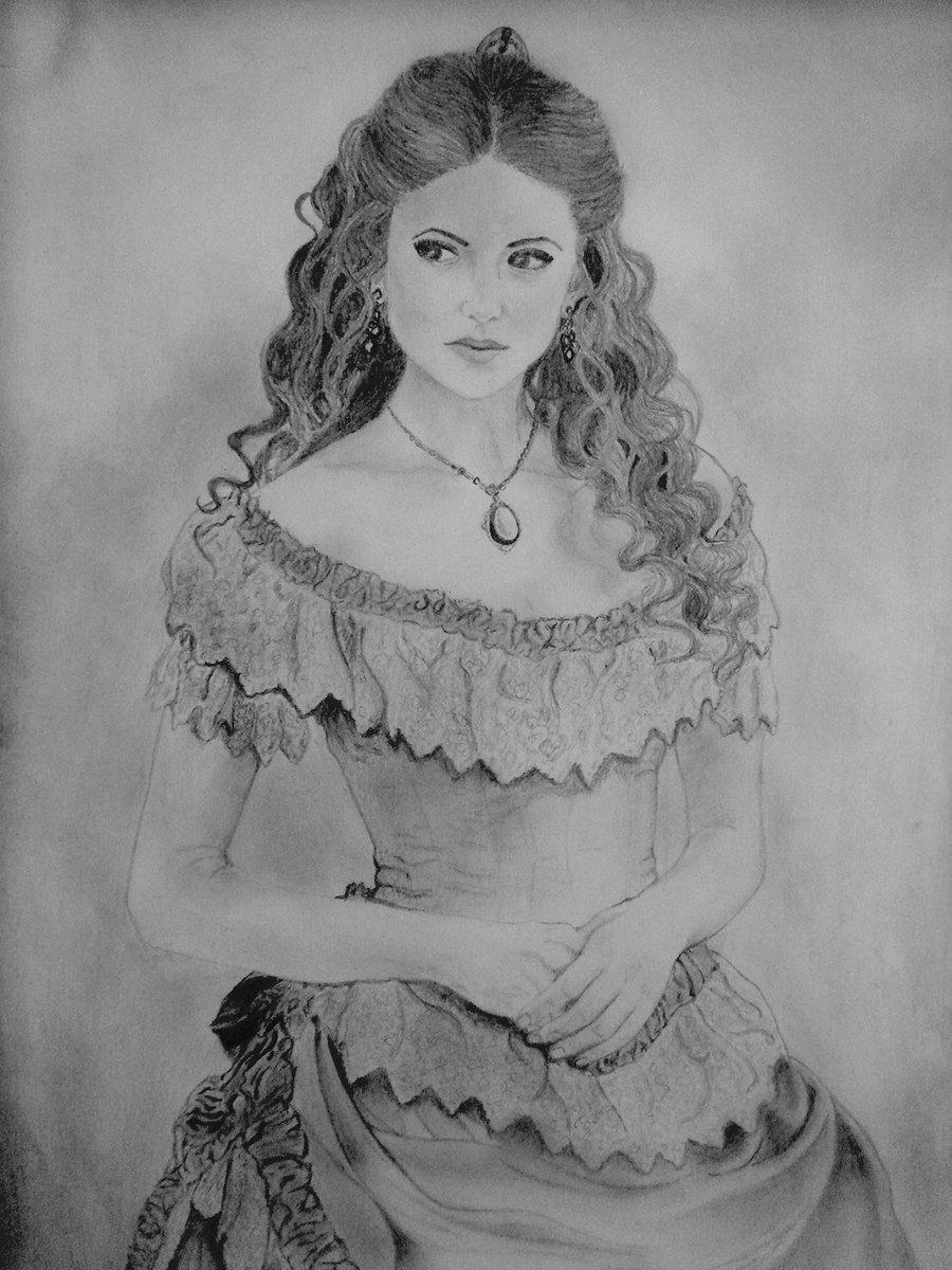 Drawn vampire art  Women Katherine Vampire Pierce