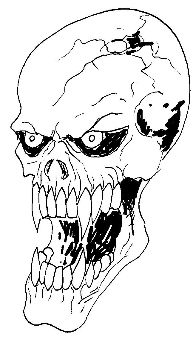 Drawn vampire basic Free Skull Art Drawing Download