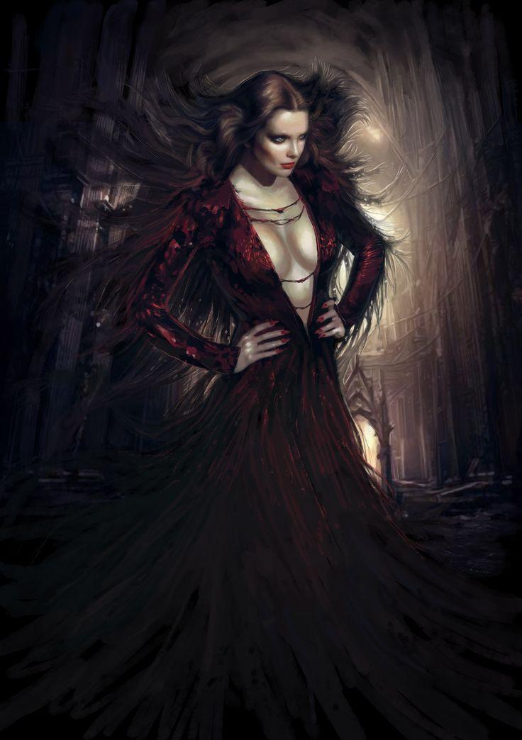Drawn vampire beautiful female ~TheBastardSon  Vampire deviantART ~TheBastardSon