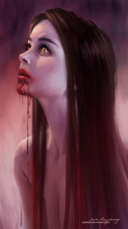 Drawn vampire beautiful female Art:  Pinterest & images