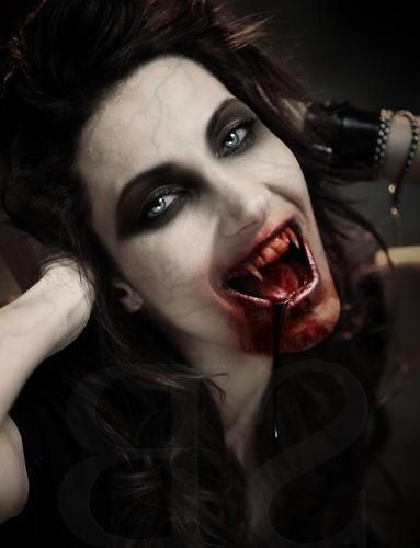 Drawn vampire beautiful female 002 Gothic horror Vampires Briggs