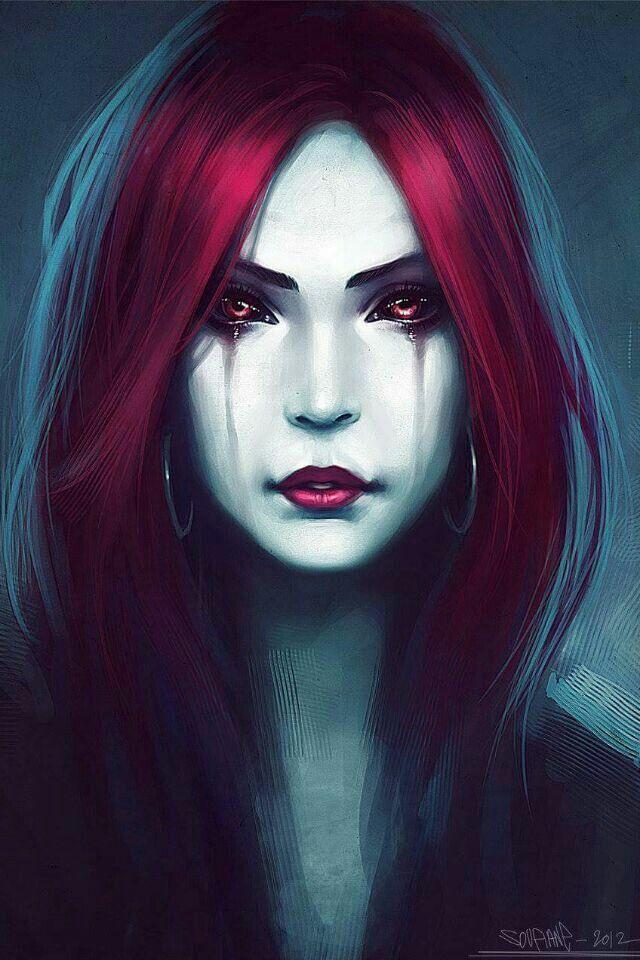 Drawn vampire beautiful female And Find ideas Vampires Vampire