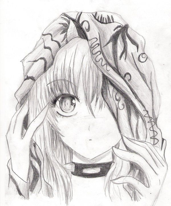 Drawn vampire beautiful female Sketch! usually Red Anime pencil