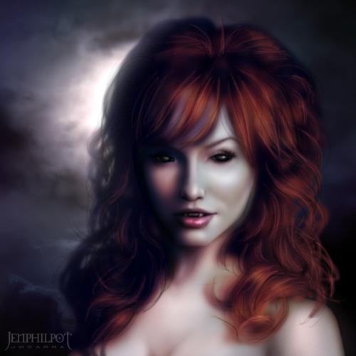 Drawn vampire beautiful female By Commission: DeviantArt Redhead jocarra
