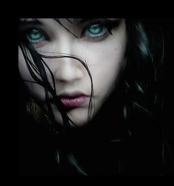 Drawn vampire blue eye Her eyes upon every wonder