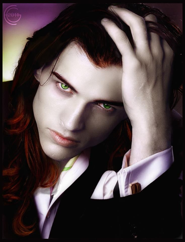 Drawn vampire blue eye Drawn cute hair green eyes