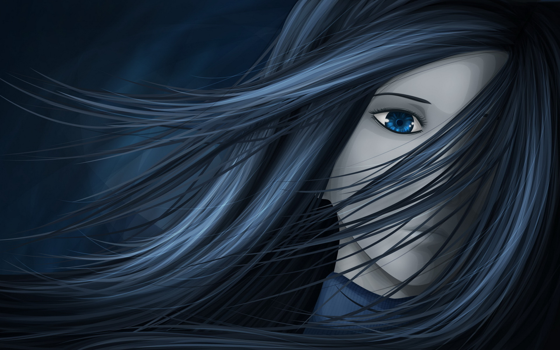 Drawn vampire blue eye Wallpaper download: maiden wallpapers and
