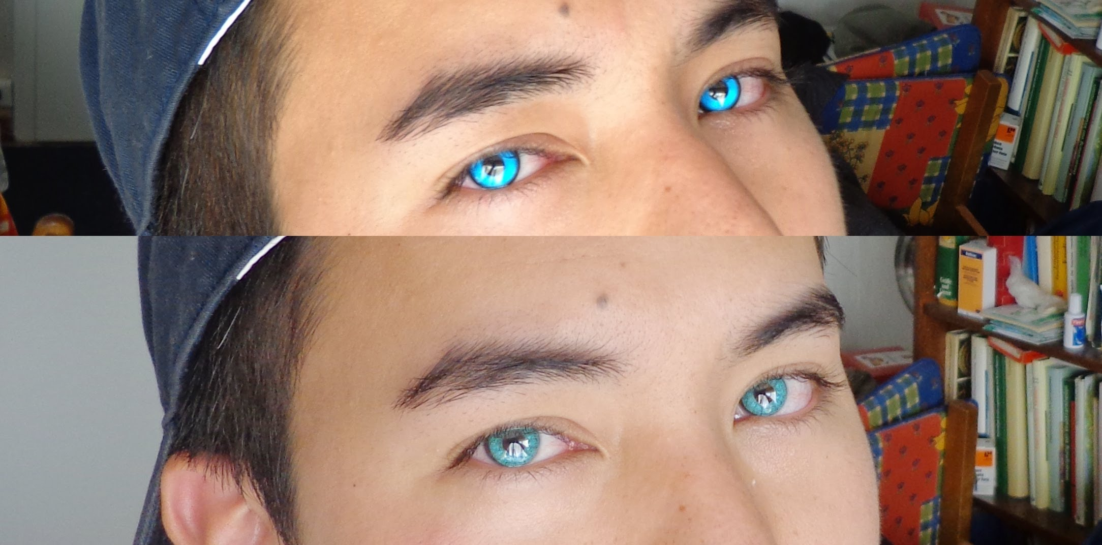 Drawn vampire blue eyed Contacts  eyes blue Lenses