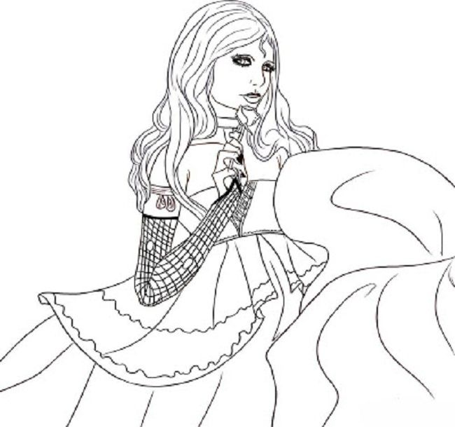 Drawn vampire coloring page Girls Pages coloring coloring pages