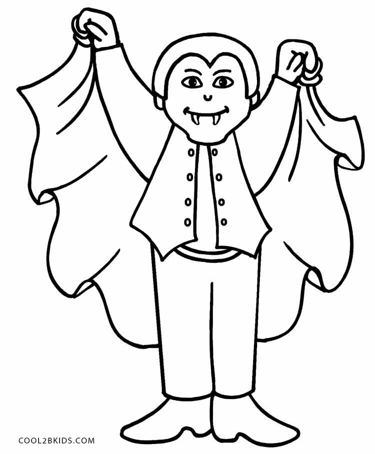 Drawn vampire coloring page Pages Cool2bKids Kids Vampire Coloring