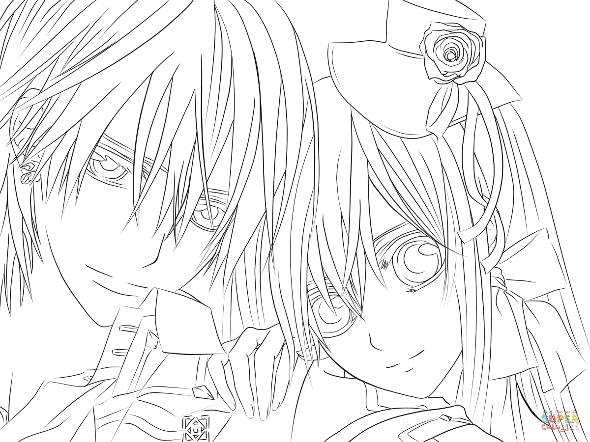 Drawn vampire coloring page Yuki pages coloring Knight Click