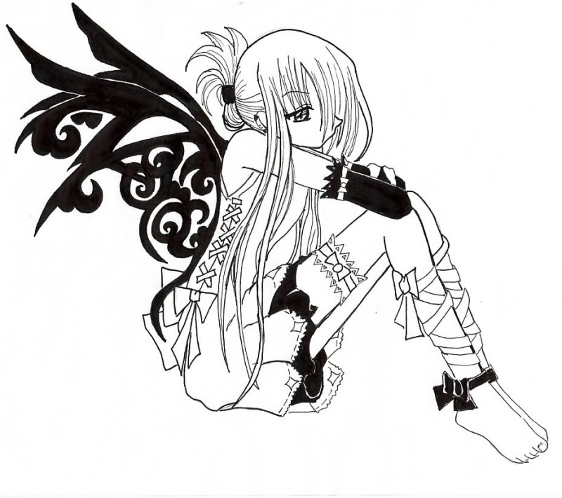 Drawn vampire coloring page Pin Vampire Anime Pinterest Find