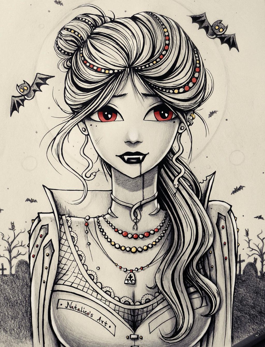 Drawn vampire copic Com by com Vampire on
