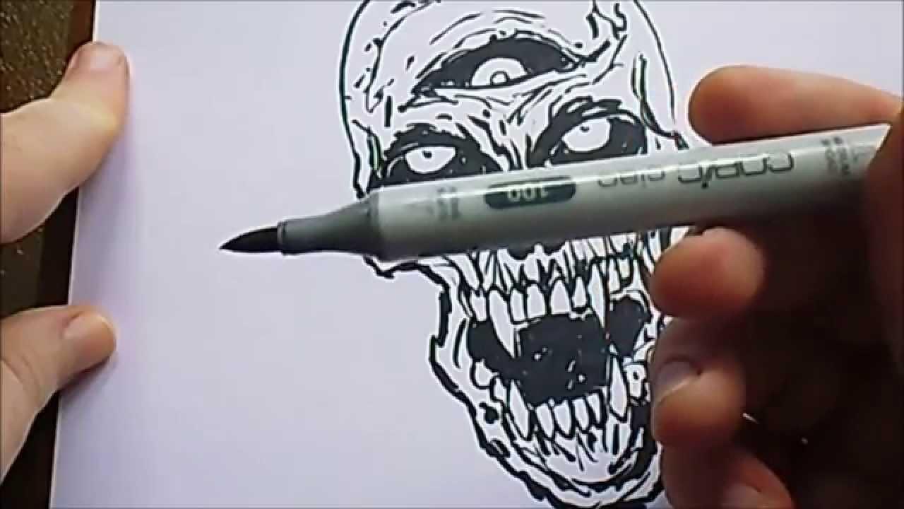 Drawn vampire copic Sketch Marker Skull Copic Sketch