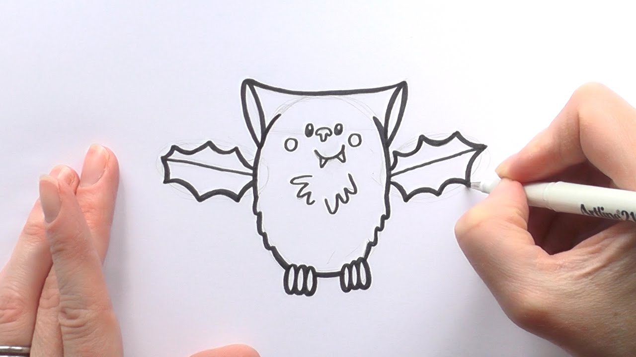 Drawn vampire cute cartoon Bat Vampire to For Bat