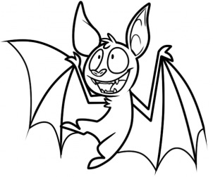 Drawn vampire cute cartoon To bat draw Step Hellokids