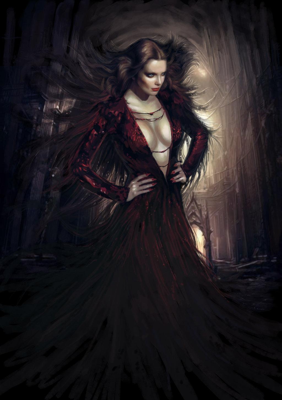 Drawn vampire dark female Countess Art Vampire by Fantasy
