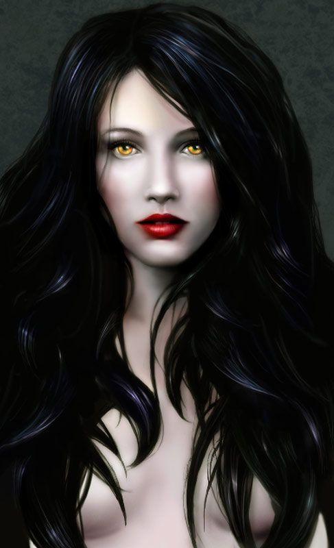 Drawn vampire dark female 91 Vampires on images D&D