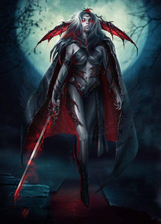 Drawn vampire dark female By about WomenDark Vampire click