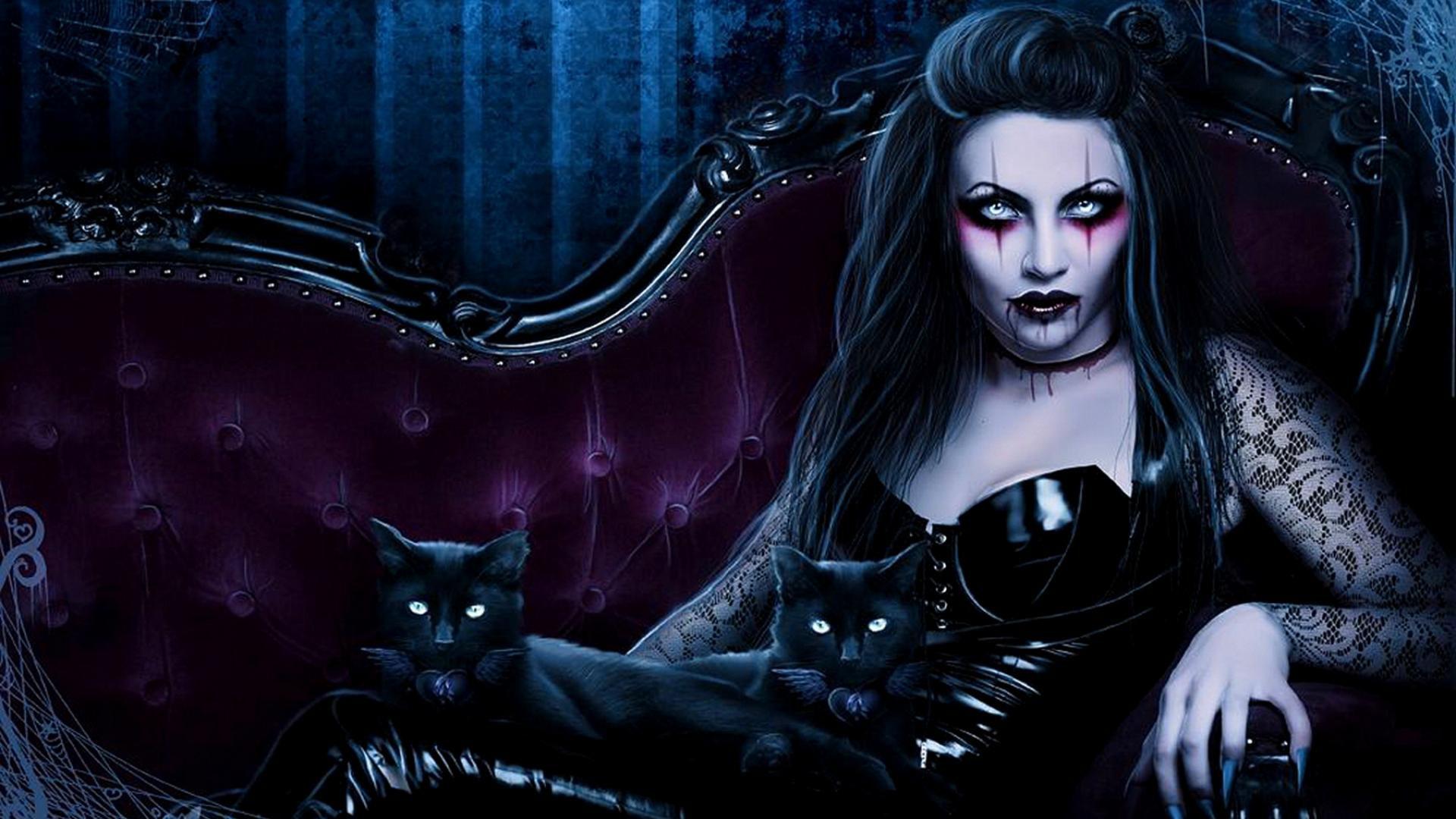 Drawn vampire darkness 1920x1080 wallpaper  horror vampire