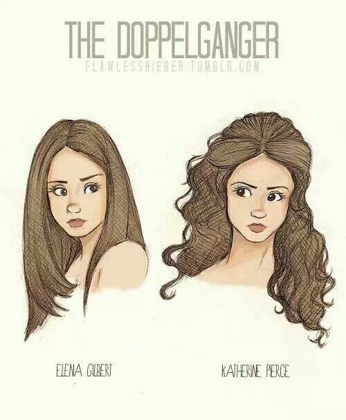Drawn vampire delena The difference and Vampire TVD