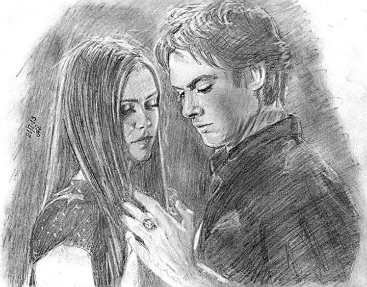 Drawn vampire delena 1037 Diaries on best about