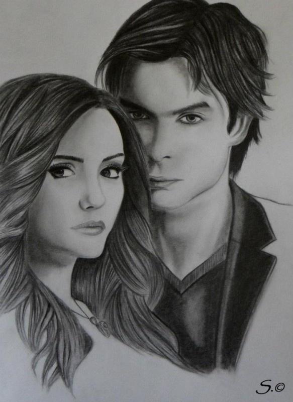 Drawn vampire delena Of diaries Somerhalder 22 Nina
