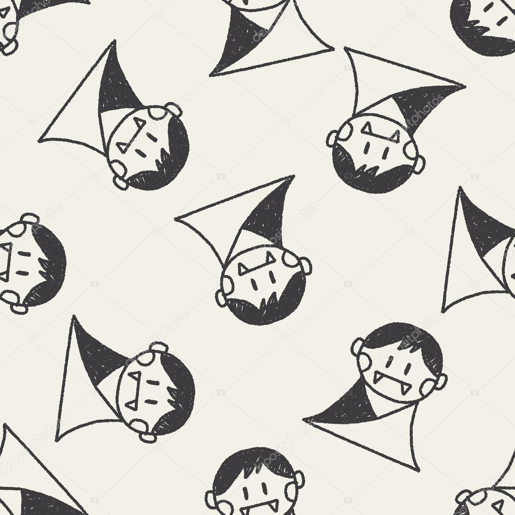 Drawn vampire doodle Background Vector drawing — doodle