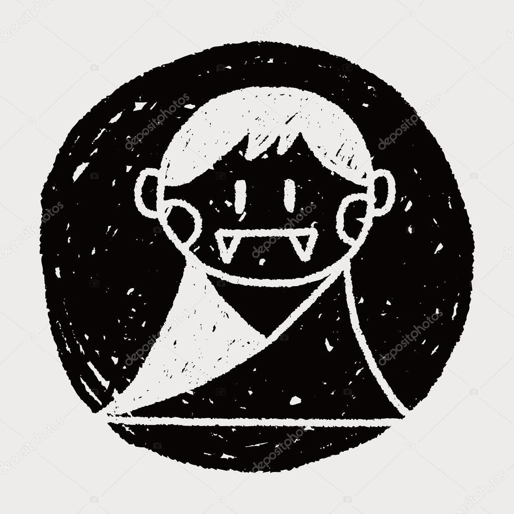 Drawn vampire doodle Vector Vector #69066467 Stock Vampire