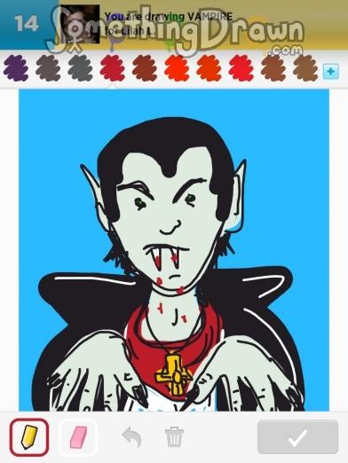 Drawn vampire draw something Vampire VAMPIRE Something com by