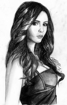 Drawn vampire elegant Pierce/Katerina Vampire Petrova/Elena Gilbert Dobrev~The