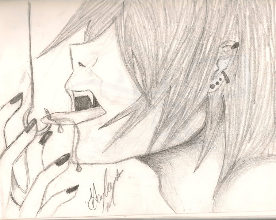 Drawn vampire emo By by Anime Vampire on
