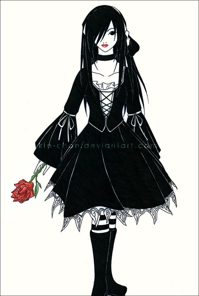 Drawn vampire emo Goth vampire for group The