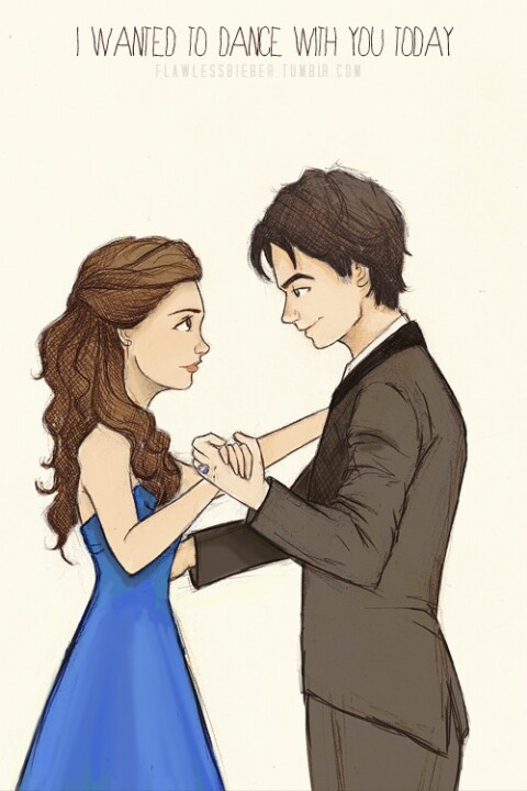 Drawn vampire first Delena Elena 30 first and