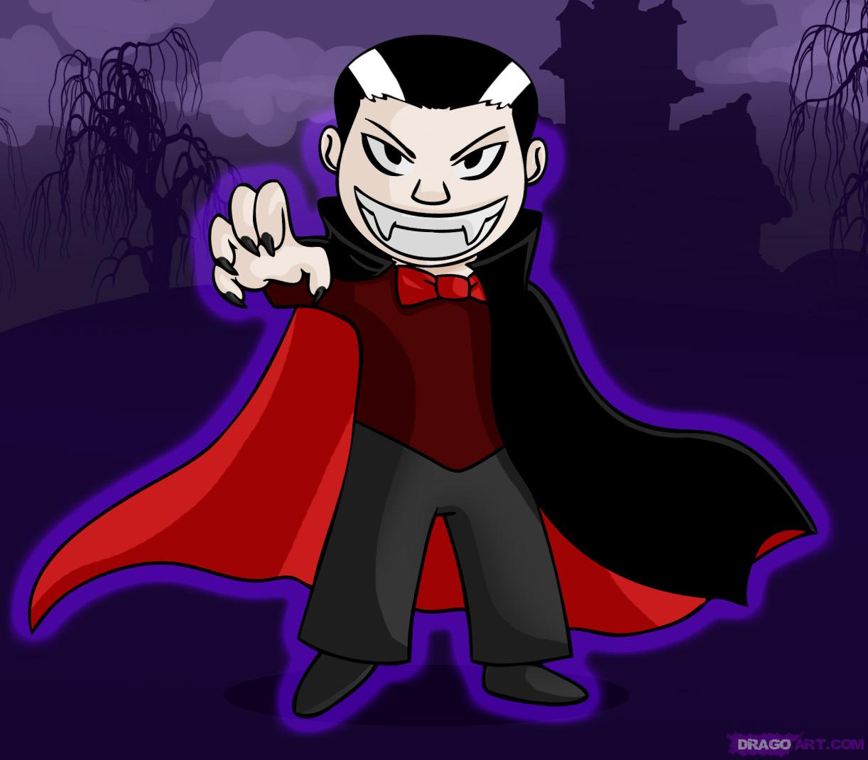 Drawn vampire funny cartoon A by Monsters vampire a