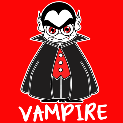 Drawn vampire funny cartoon By How for  a