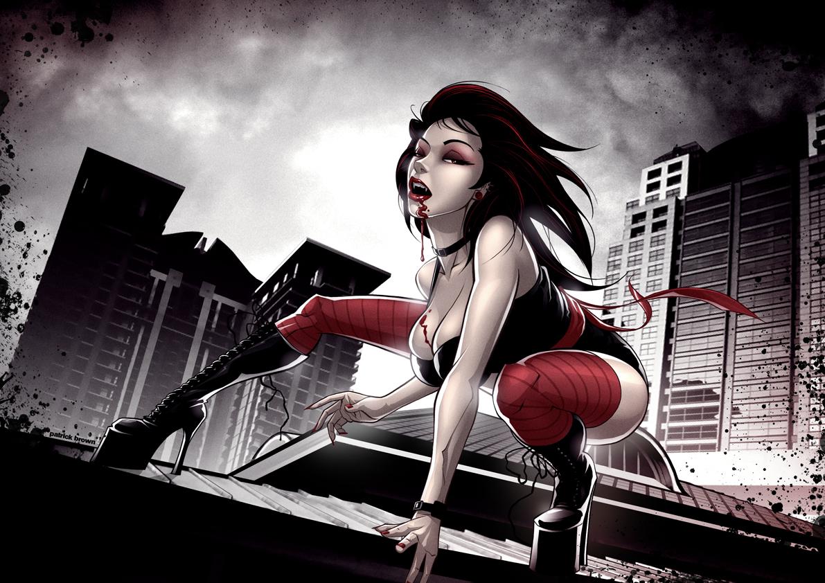 Drawn vampire hot On Vampire Prostitute Vampire PatrickBrown