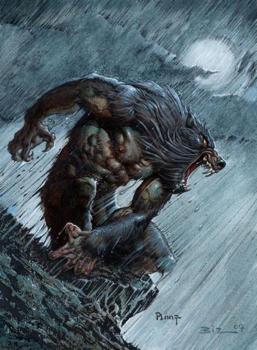 Drawn vampire monster More & 280 Werewolves Pin