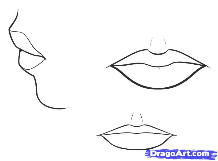 Drawn vampire mouth Draw mouth step Mouth How