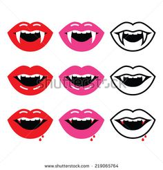 Drawn vampire mouth Vampire vector icons mouth by