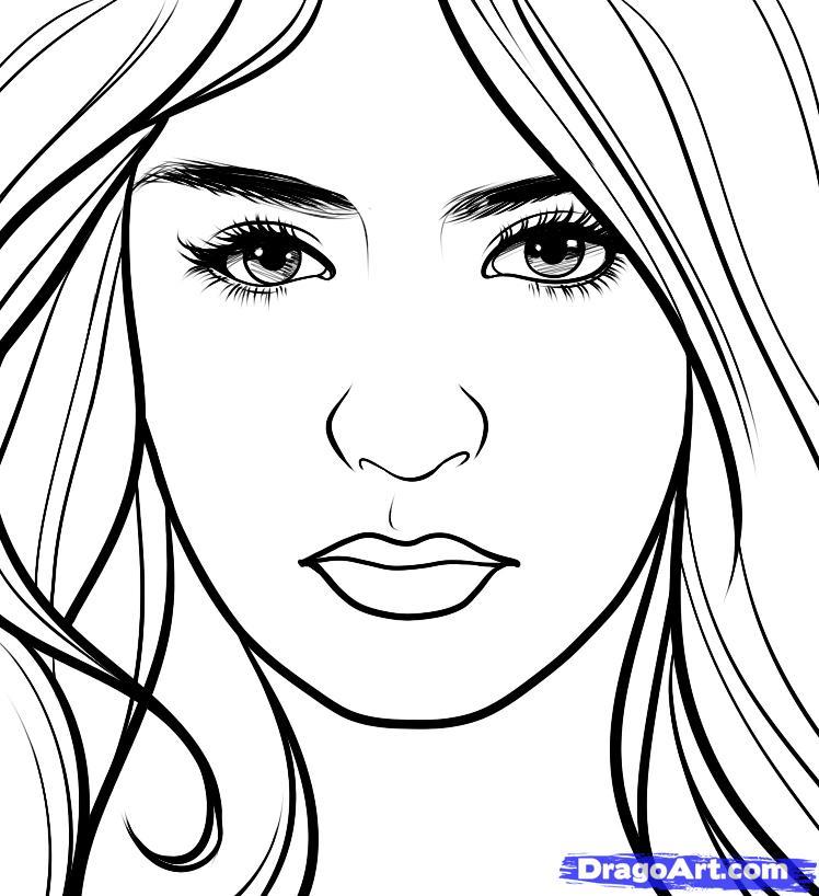 Drawn vampire outline Draw Elena  elena step