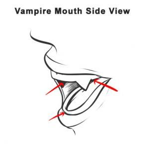 Drawn vampire outline Side view drawings Vampire on