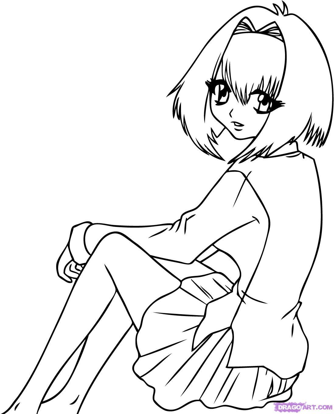 Drawn vampire outline Girl Coloring Coloring karin Vampire