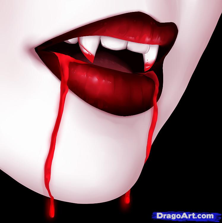 Drawn vampire outline Draw Mouth a How a