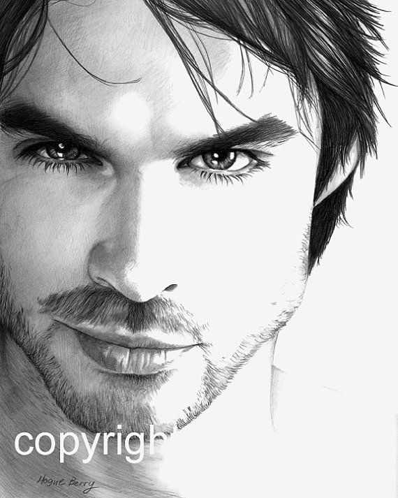 Drawn vampire pencil drawing IdeasPencil Damon by TheBerryPress 00