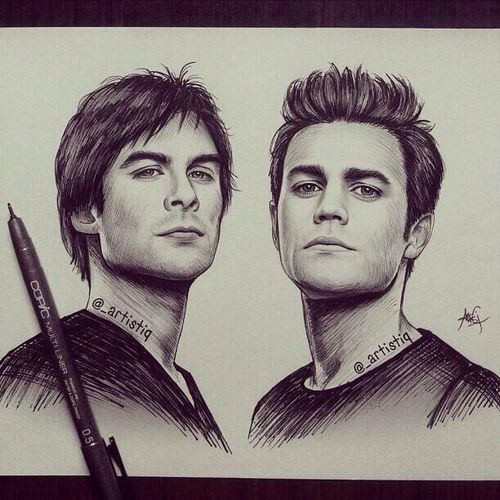 Drawn vampire pencil drawing Pinterest this Diaries 20+ and