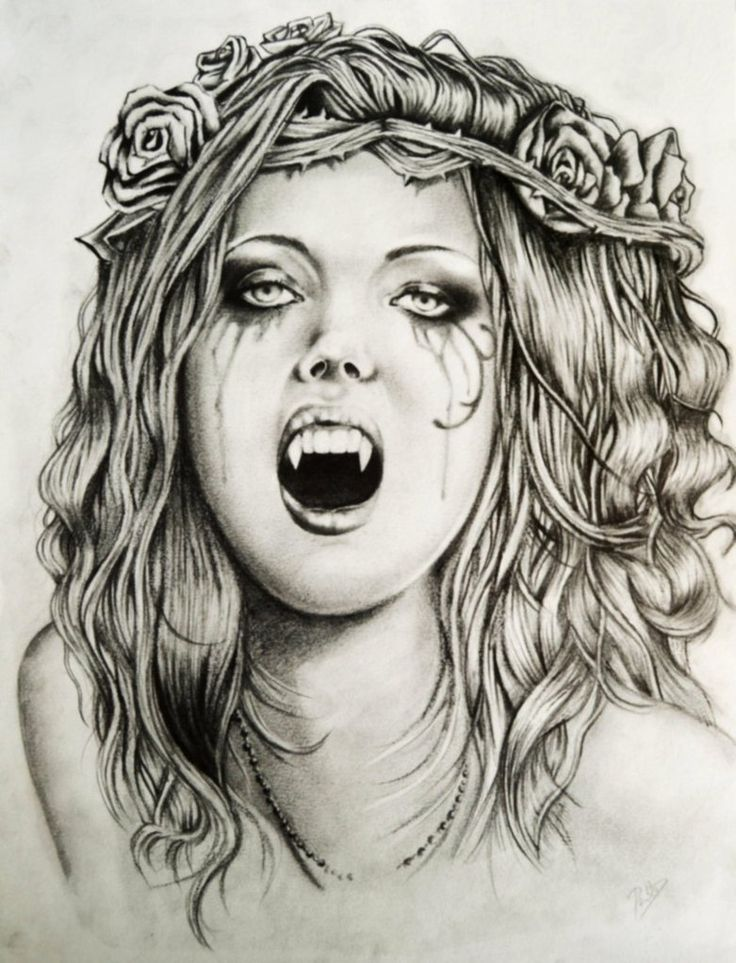Drawn vampire pencil drawing Drawings about Drawing Search on
